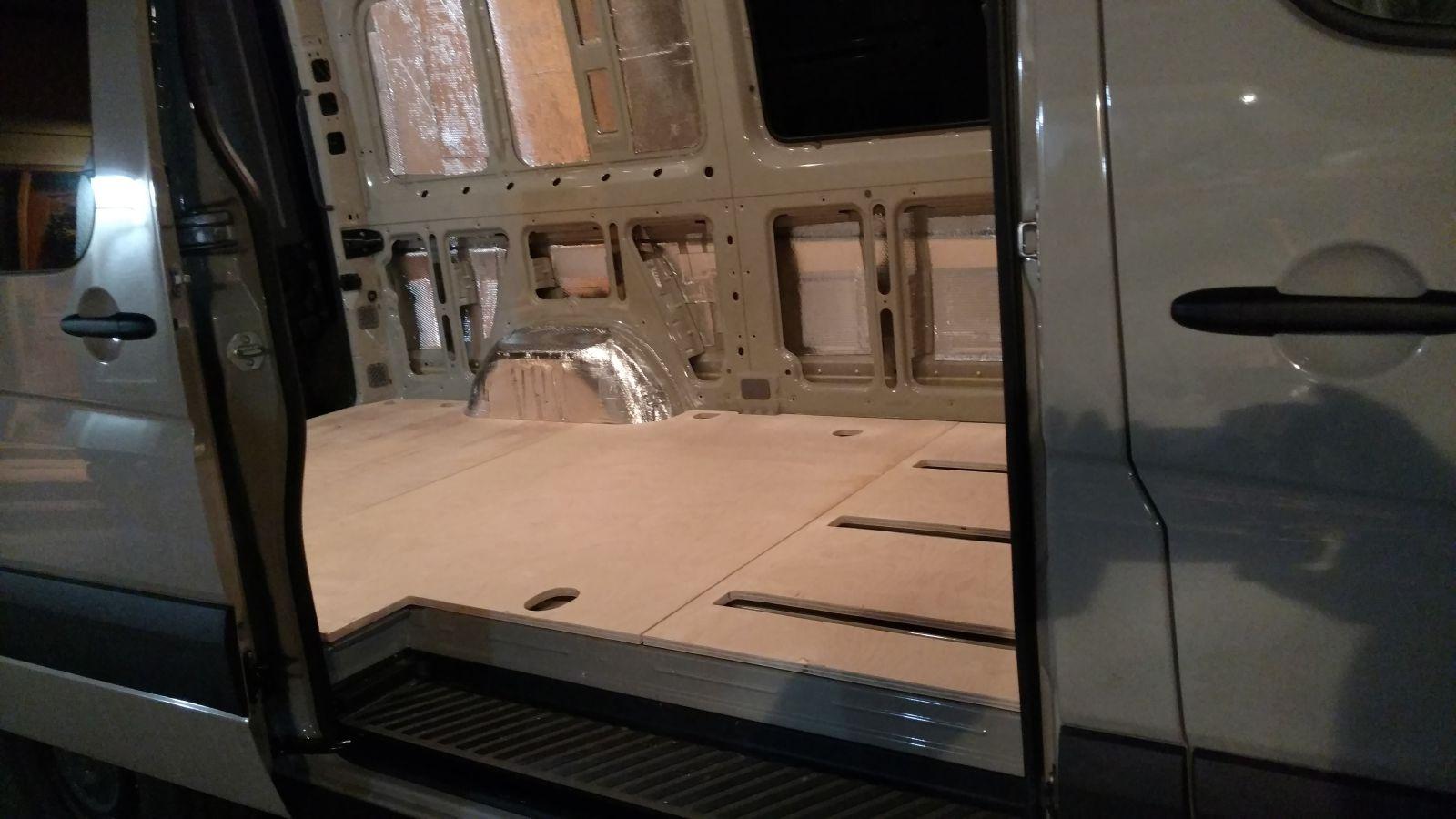 Diy Sprinter Van Insulated Floor Ridingroadsandtrails