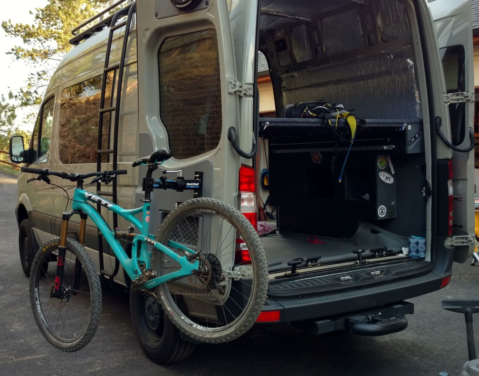 Diy Sprinter Van Bike Mounts Ridingroadsandtrails